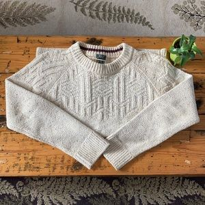 Roots Cotton-Blend Oatmeal Knit Sweater